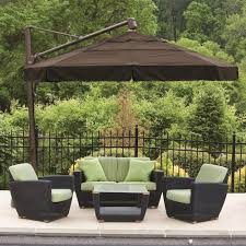 Patio Furniture Set With Umbrella - furniture divine outdoor living room decoration using dark brown