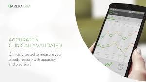 qardioarm smart blood pressure monitor for android youtube