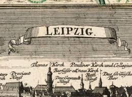 map of leipzig map of leipzig with gravures germany deutshland 1735