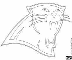 nfl team coloring pages logo of carolina panthers coloring page printable game