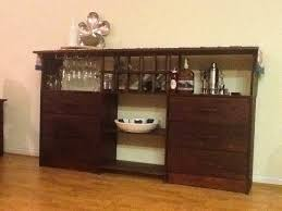 Ikea Bar Cabinet Furniture Engaging Bar Using Ikea Besta Cabinets Basement