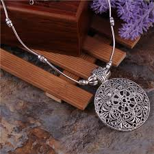 metal flower necklace images Buy tibetan jewelry and get free shipping on jpg