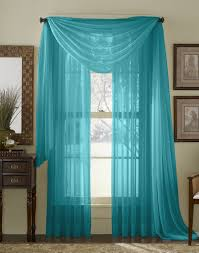 Turquoise Sheer Curtains Qutain Linen Solid Viole Sheer Curtain Window Panel Drapes Set Of