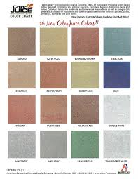 Stain Color Chart Concrete Coating Color Chart River City Coatings Color Charts