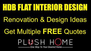3 u0026 4 room hdb flat interior design ideas youtube