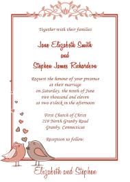 wedding invitations hallmark birdie free wedding invitation wedding invitation