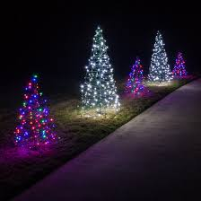 multicolor led outdoor tree