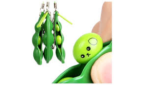 2 peas in a pod keychain fidget toys extrusion bean pea stress relieving keychain 3 or
