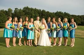 things we love different colored bridesmaids u0027 dresses flair