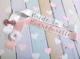 custom sash custom color and text bachelorette bow flower glitter