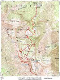 Topographic Map Of Utah by Mount Timpanogos Wasatch Mountains Hiking