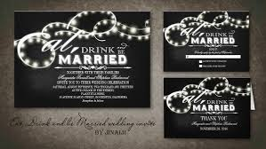 eat drink and be married invitations read more eat drink and be married twinkle lights chalkboard