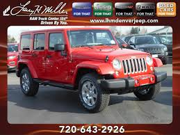 jeep sahara red jeep wrangler unlimited for sale in denver lease and finance specials