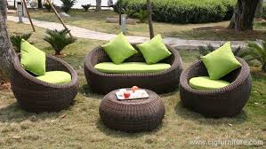 outdoor round quality rattan wicker sofa lounge set comfort outdoor