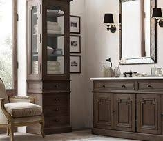 Restoration Hardware Bathroom Cabinets This Bathroom I Love The Cabinets Are Unique The Stain Is Brown