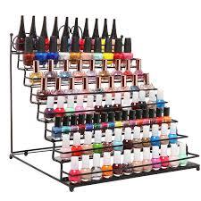 amazon com 8 tier scrollwork black metal nail polish rack