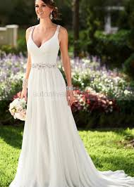 beaded wedding dresses ivory beaded chiffon keyhole back wedding dress