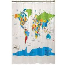 multi colored shower curtains shower accessories the home depot