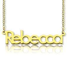 3d Nameplate Necklace Nameplate Necklace 18k Gold Plating