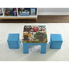 small folding table and chair set for kids on the white rug on the