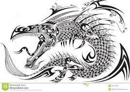 dragon tattoo vector stock vector image of fantasy china 44797910