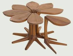 flower table flowering side tables flower shaped