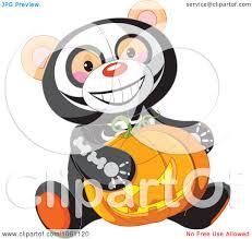 Halloween Skeleton Clip Art Clipart Halloween Skeleton Teddy Bear Holding A Jackolantern
