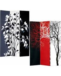 Canvas Room Divider Sweet Deal On Tree 3 Panel Double Sided Painted Canvas Room
