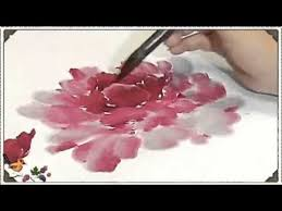 how to paint a chinese peony yang oshi one thousand days