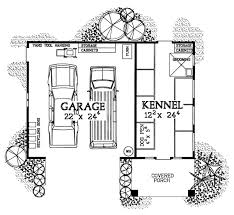 Dog House Floor Plans Garage Plans With A Dog Kennel For Breeders Groomers And Boarders