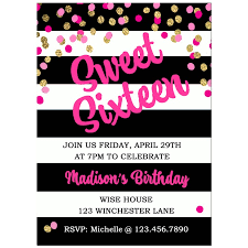 sweet 16 birthday party invitation by that party u0027s