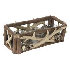 red shed candle holder with faux antlers tractor supply online