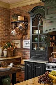 country kitchen with brick wall house design ideas