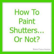 Spray Paint Vinyl Shutters - how to paint shutters for the home pinterest solid surface