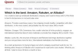 alibaba target market amazon alibaba and rakuten who is winning the global ecommerce