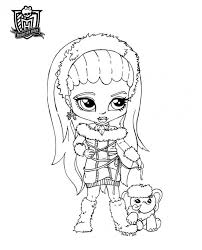 monster high coloring pages baby abbey bominable dibujos para colorear de monster high abbey bominable y su mascota