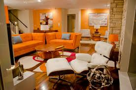 inspirational orange living room chair about remodel modern