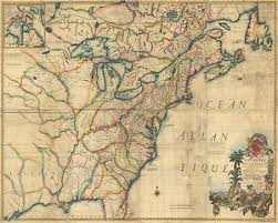 colonial america map 1770 america colonial colonies map ebay