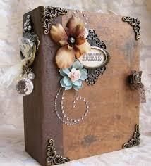 vintage scrapbook album elite4u toni vintage style premade scrapbook album prima flower