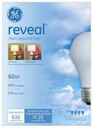 ge reveal incandescent light bulbs 60w 6 count walmart com