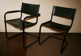Leather Chairs For Sale Bauhaus Leather And Tubular Steel Chairs Set Of 8 For Sale
