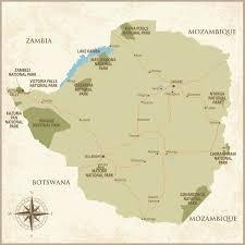 Zimbabwe Map Zimbabwe Revealing Africa