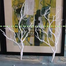 White Decorative Branches 36cm Natural Dry Pvc Manzanita Dried Artificial Plant Tree