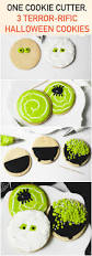 easy halloween cookies 3 designs from 1 circle cutter