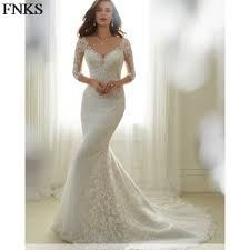 compare prices on sheer lace mermaid wedding dress online