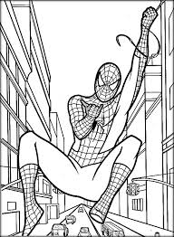 spiderman coloring pages color zini
