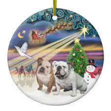 english bulldog christmas tree decorations u0026 ornaments zazzle co uk