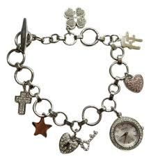 silver plated bracelet charms images Folli follie silver plated charm bracelet watch tradesy jpg