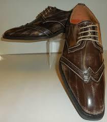 mens unique taupe color fashion foward stylish wingtip dress shoes