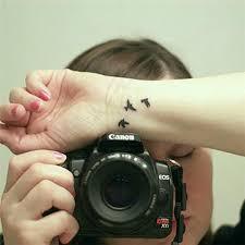 women finger wrist flash fake tattoo stickers liberty small